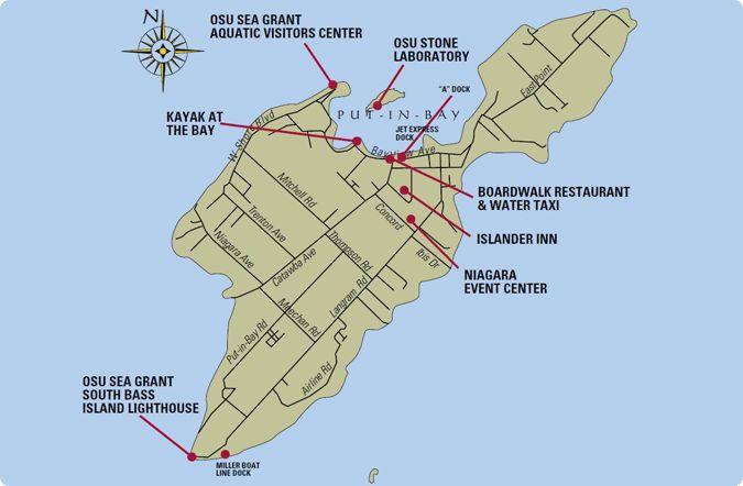 Lake Erie Put In Bay Island Map
